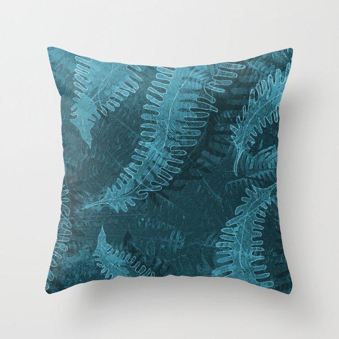Ferns (light) abstract design Throw Pillow