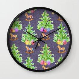 Cute Christmas Pattern Wall Clock