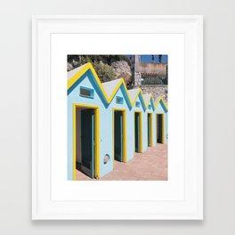 Bathhouses, Capri Framed Art Print