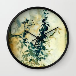 Shadows and Traces Wall Clock