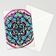 Budding Mandala x4 Stationery Cards