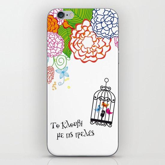 Το κλουβί με τις τρελές (the cage with the crazy girls) iPhone & iPod Skin