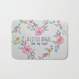 A Little Angel Stole My Heart Bath Mat