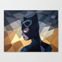 dc comics Canvas Prints featuring DC Comics Catwoman by Eric Dufresne