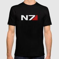 N7 2X-LARGE Black Mens Fitted Tee