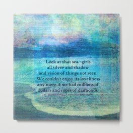 Anne of Green Gables quote Metal Print