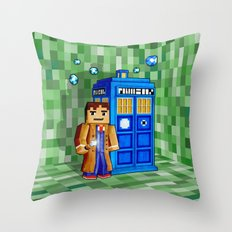 8bit Blue Phone box iPhone 4 4s 5 5c 6, pillow case, mugs and tshirt Throw Pillow