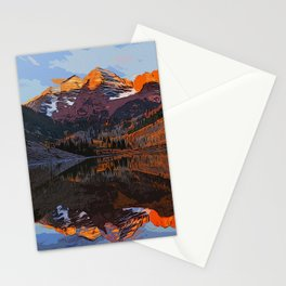 The Wonderful Maroon Bells in Autumn Stationery Cards