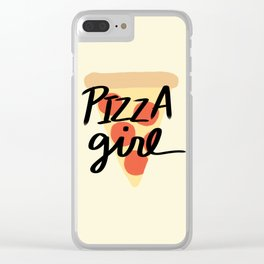 Pizza Girl Clear iPhone Case