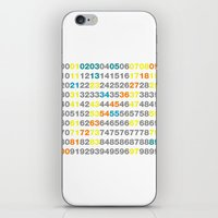 numbers iPhone & iPod Skins featuring Numbers by Andrew Reid