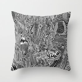Crazy Pattern Throw Pillow