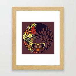 Afro Diva : Sophisticated Lady Deep Framed Art Print