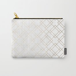 Simply Mod Diamond White Gold Sands on White Carry-All Pouch