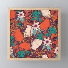 Botanical pattern 010 Framed Mini Art Print