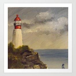 Rocky Point Lighthouse Art Print