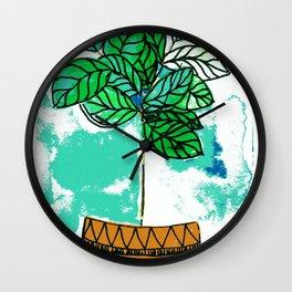 Indoor plant in pot Wall Clock