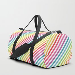 Rainbow Geometric Striped Pattern Duffle Bag
