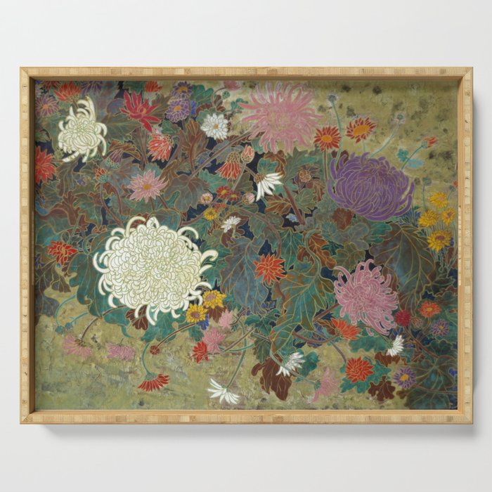 flower【Japanese painting】 Serving Tray