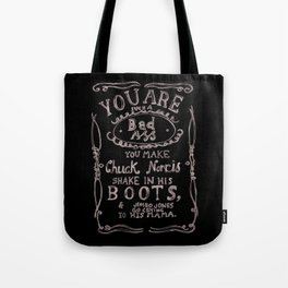 You are such a bad ass: watercolor typography print Tote Bag