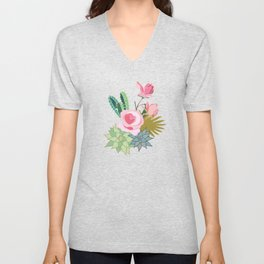 California Rose Garden Unisex V-Neck