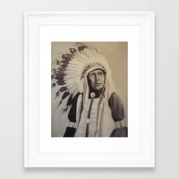 native american Framed Art Prints featuring Native American by Coral Churchill