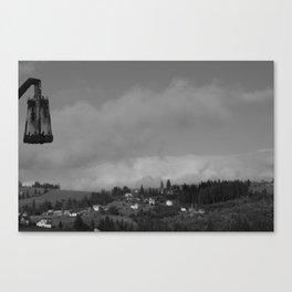 Romanian Mountain Village  Canvas Print