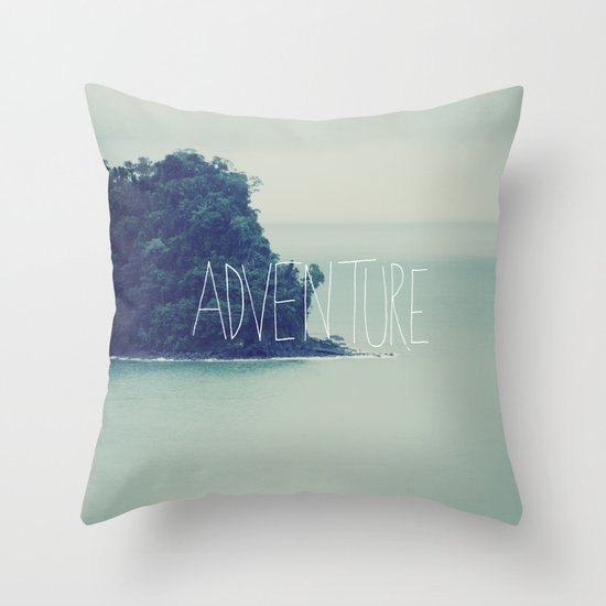 Adventure Island Throw Pillow