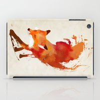 texture iPad Cases featuring Vulpes vulpes by Robert Farkas