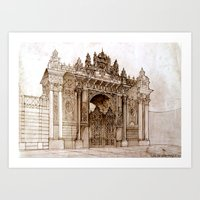 istanbul Art Prints featuring Istanbul by takmaj