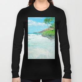 Aloha mai e Pā'ako Beach Mākena Maui Hawaii Long Sleeve T-shirt