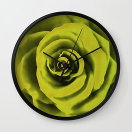 Big Yellow Rose Wall Clock