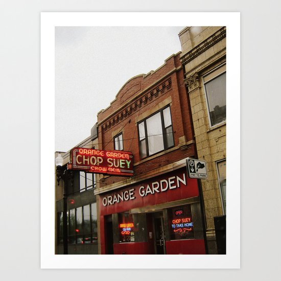 Orange Garden ~ chop suey to take home! Art Print
