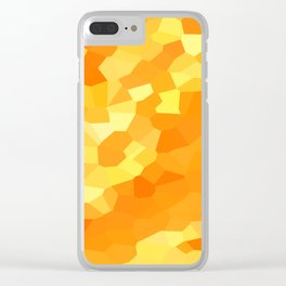 Polygonal Yellow and Orange Stained Glass Mosaic Clear iPhone Case