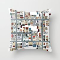 the neighbourhood Throw Pillows featuring Neighbourhood pattern by Rceeh