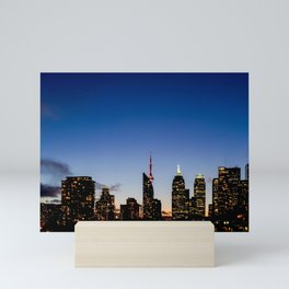 Skyline - The Darkness Is Coming Mini Art Print