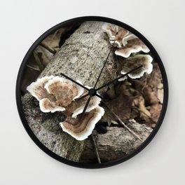 Brackets on a Log Wall Clock