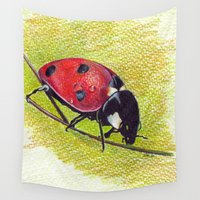 ladybug Wall Tapestries featuring Ladybug by Ela Steel