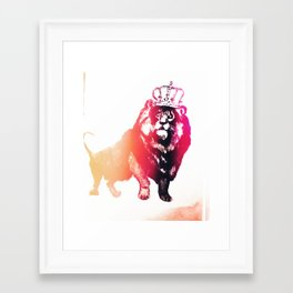 King // Framed Art Print