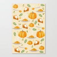 pumpkin Canvas Prints featuring pumpkin by Ceren Aksu Dikenci