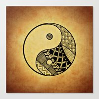 ying yang Canvas Prints featuring Ying Yang by WonderfulDreamPicture