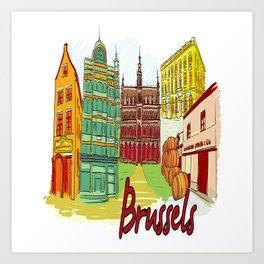 Brussels Belgium Art Print