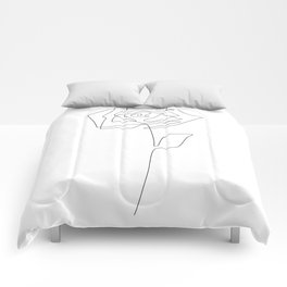 Single Rose Comforters