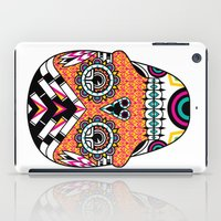 deco iPad Cases featuring Deco Skull by Jorge Garza