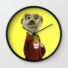 Noble Meerkat from Animal Society Wall Clock