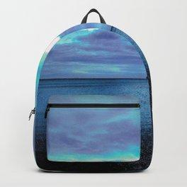 infinite blue of sea and sky Backpack
