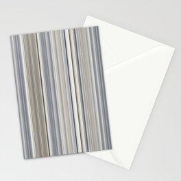 Blue grey Tan Stripes Stationery Cards