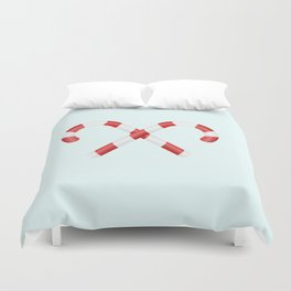 Christmas candys Duvet Cover