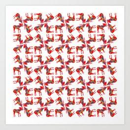 Dala Elk and Moose Sheet Art Print