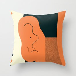 Angry talking makes the ear cranky Throw Pillow