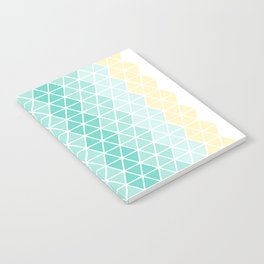 Abstract geometric ombre hexagons Notebook